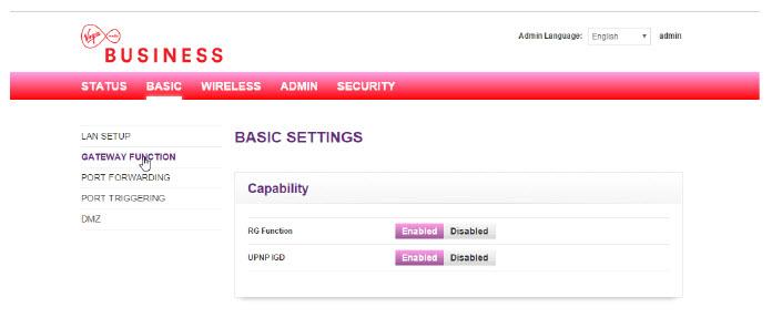 Virgin Media Ip Address >> Dynamic Modem Only Mode User Guide | Virgin Media Business