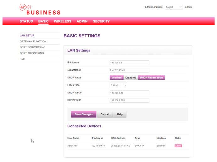 Virgin Media Ip Address >> Dynamic Modem Only Mode User Guide Virgin Media Business